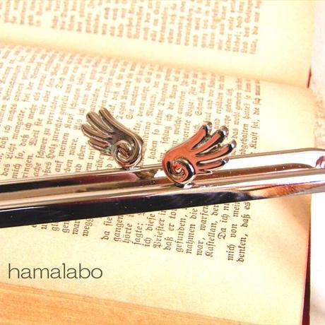 5月1日販売開始!【HA-1789】「天使の羽」の口金/12cm角型(シルバー)