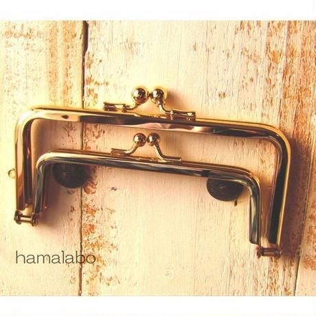 9月11日販売開始!【HA-1651】親子口金12cm(竹の根ひねり×ゴールド)