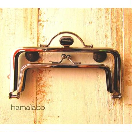 7月4日販売開始!【HA-1594】親子口金 12cm(押し口金×シルバー)