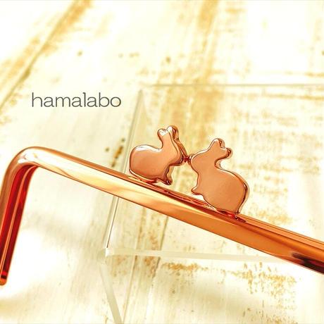 8月7日販売開始!【HA-1911】12cm/角型(ペアウサギ×ローズゴールド-ピンクゴールド)