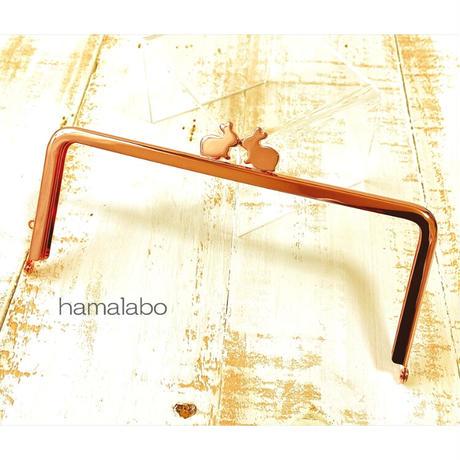 8月7日販売開始!【HA-1912】18cm/角型(ペアウサギ×ローズゴールド-ピンクゴールド)
