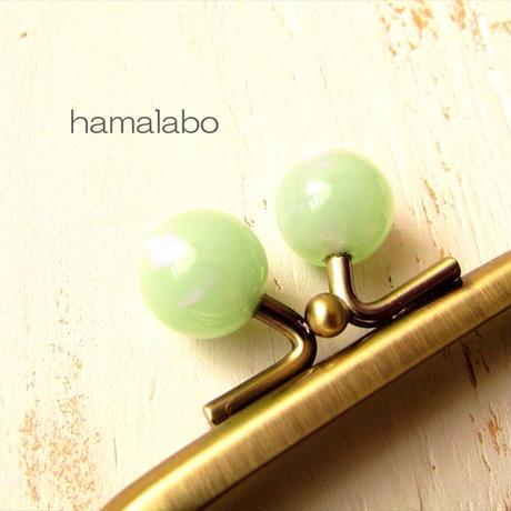9月19日販売開始!【HA-1901】7.5cm/角型口金(オーロラグリーン×アンティークゴールド)