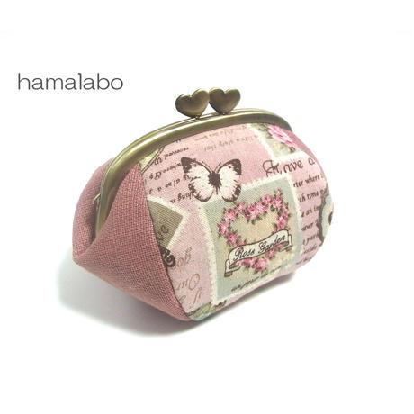 9月19日販売開始!【HA-1921】ハート口金12.5cm/くし型(ローズゴールド-ピンクゴールド)