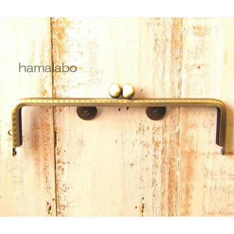 5月1日販売開始!【HA-1839】ハート柄フレーム口金/16.5cm/角型(碁石×アンティークゴールド)