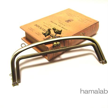 2月28日販売開始!【HA-810】<初回限定価格>親子口金 20.4cm(小鳥のピースケ×アンティーク)・カン付き