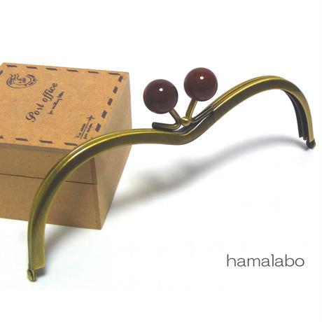 【HA-176】メガネ型(べっ甲玉×アンティークゴールド)