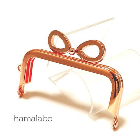9月19日販売開始!【HA-1902】7.5cm/角型口金(リボン×ローズゴールド-ピンクゴールド)