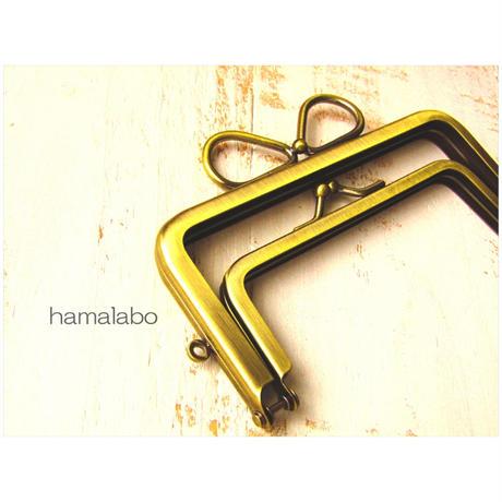 1月20日販売開始!【HA-1739】親子口金12cm(リボン×アンティークゴールド)-リングリボン