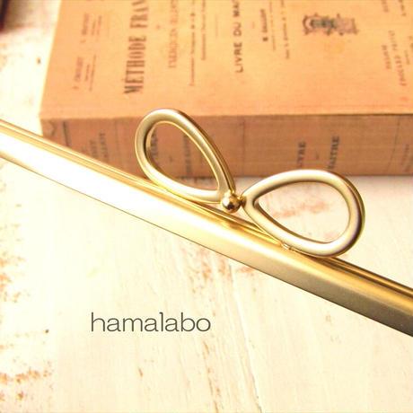 7月28日販売開始!【HA-1861】17.7cm角型口金/(新リボン×ソフトゴールド)
