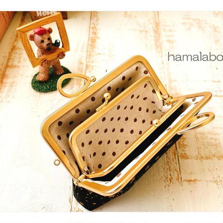 8月20日販売開始!【HA-1888】親子口金12cm(新リボン×ソフトゴールド)
