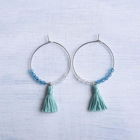 フープタッセルピアス / Hoop Tassel Pierced Earring