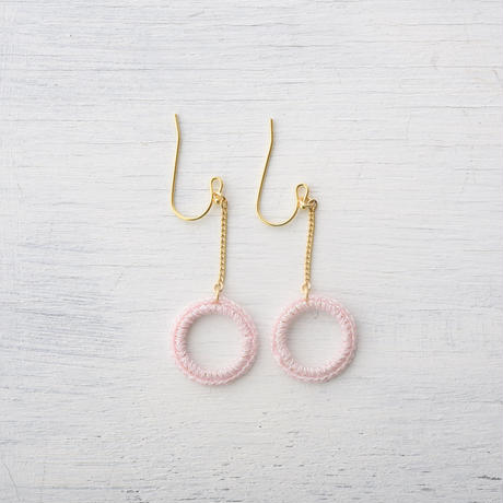 チェーンサークルピアス(5色) / Chain Circle Pierced Earring(5colors)