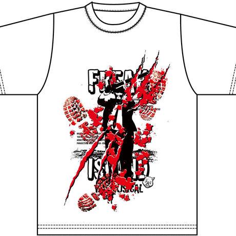 鬼畜島Tシャツ(White)