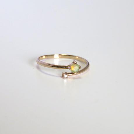 オパール / ダイヤモンド /  K10 リング