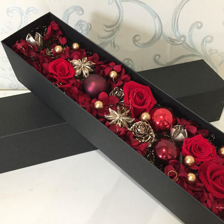 プリザーブド クリスマス ロング BOX アレンジ
