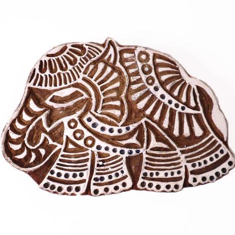 木版ブロック フック付き(象)通常価格¥4,400(税込)を特別価格で!   BL19-226
