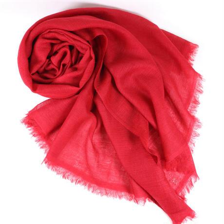 Kashmir Loom −Solid (単色)  色:Carmine (赤)