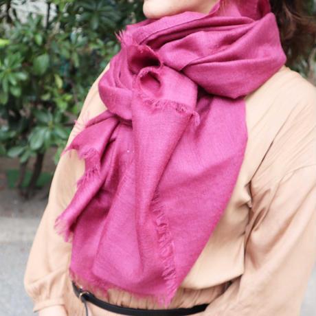Kashmir Loom −Solid (単色)  色:Grape (ブドウ赤紫)