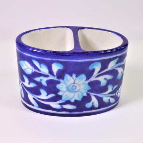 ペン立て /  トゥースブラシ立て (Blue Flower)BP19-78