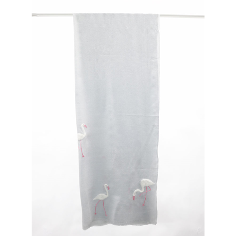 Plume Nova  (Tropical Flamingos / Gray × White)  ウール50%/シルク50% SS-18/62BC
