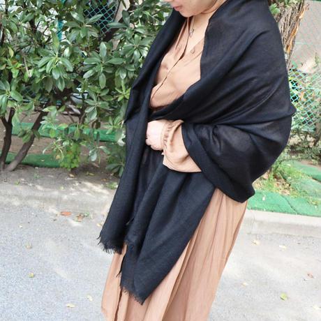 Kashmir Loom −Solid (単色)  色:Black (黒)