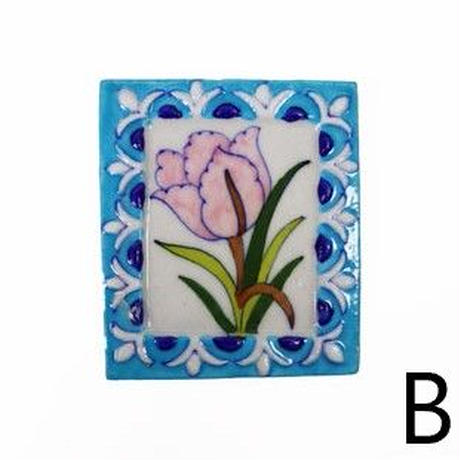 エンボス タイル(フック付き)花 BP19-73