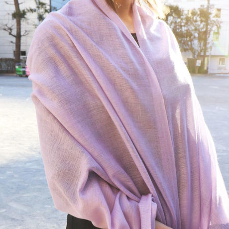 Kashmir Loom −Solid (単色)  色:Petal 薄紫