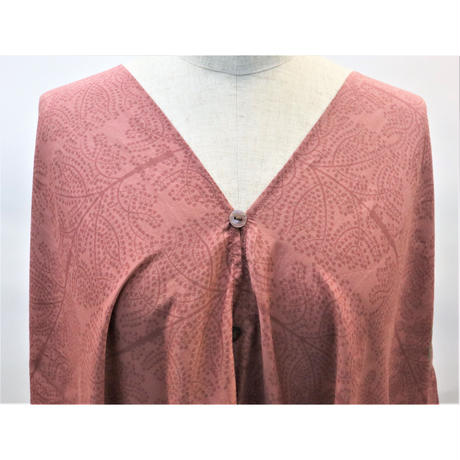 Toile Indienne Wrap  ラップ  チュニック (Madder Earth)