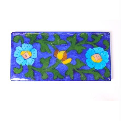タイル(Navy-Light blue flower)BP19-63
