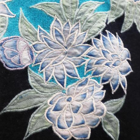 Plume Nova  (Valley of Flowers / Blue X Black)  ウール85%/シルク15% SS-18/12BC