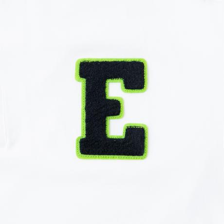 ELEYVS「E」LOGO POLO  WHT