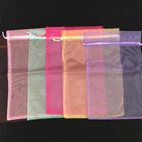 【在庫限り】オーガンジー巾着袋 XL 1セット5枚入