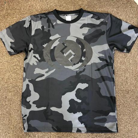 FISHLABOオリジナルドライTシャツ ブラックカモ