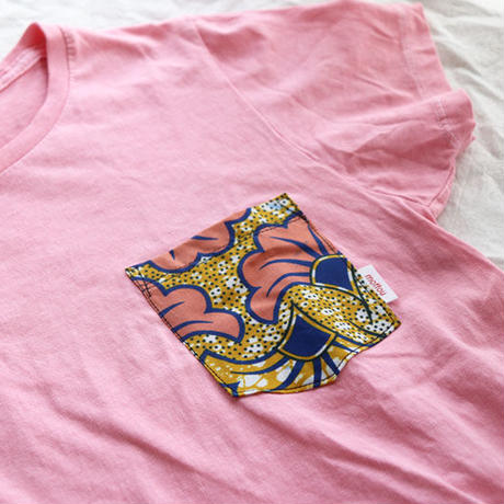 "【ladies-Msize】後染めAfrican pocketTshirt ""icho"""