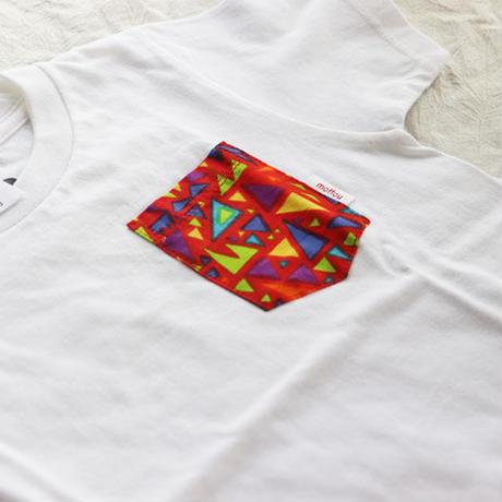 "【kids-120】African pocketTshirt ""kamifubuki"""