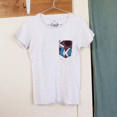 "【ladies-Msize】African pocketTshirt ""hitode"""