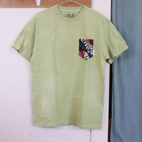 "【Unisex-Msize】後染めAfrican pocketTshirt ""yukata"""