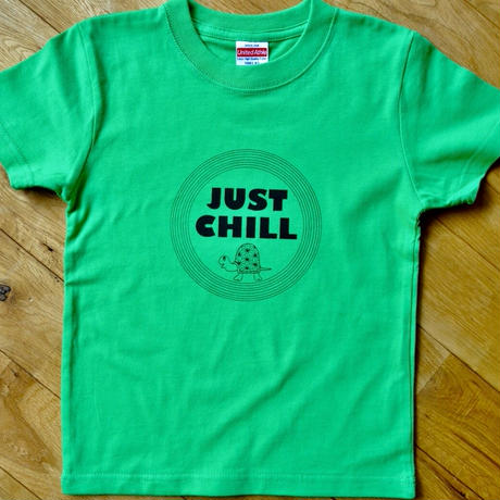 【キッズ100】ジャストチルTシャツ◎グリーン