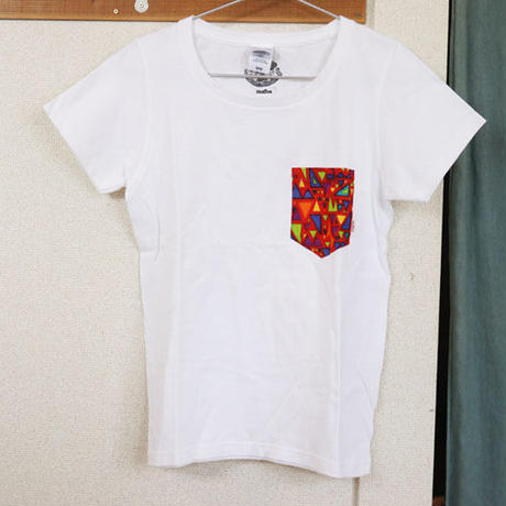 "【ladies-Msize】African pocketTshirt ""kamifubuki"""