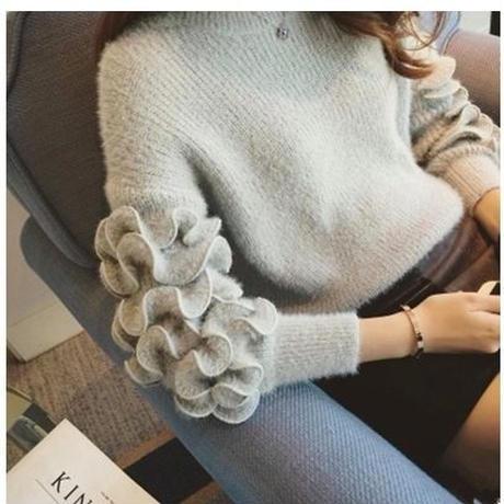 【予約商品】フレアボリュームスリーブセーター(3色)