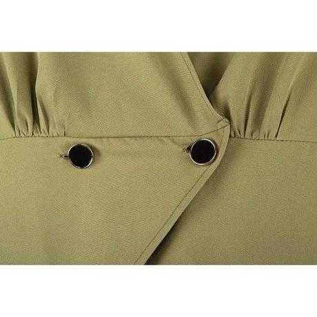 【予約商品】Green Button V Neck  Short Jacket shirts