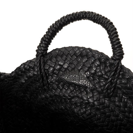 KG08 / LEATHER CIRCLE BASKET M