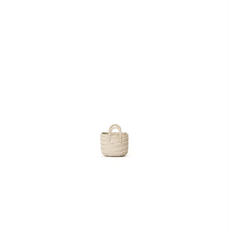 KG13 / LEATHER SMALL BASKET