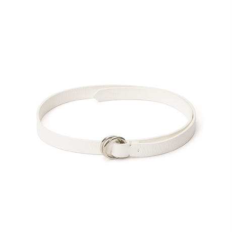 DA38 / DEER LEATHER OVAL RING BELT : M