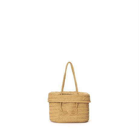 KG11 / LEATHER LIDDED BASKET M