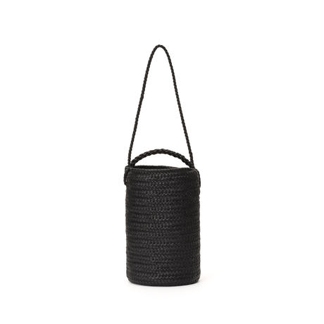 KG19 / LEATHER CYLINDER BASKET double handle