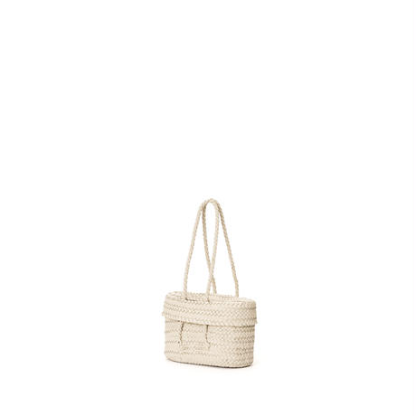 KG10 / LEATHER LIDDED BASKET S