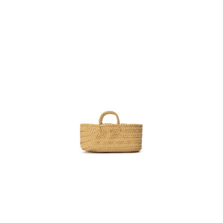 KG26 / LEATHER LOW BASKET OVAL