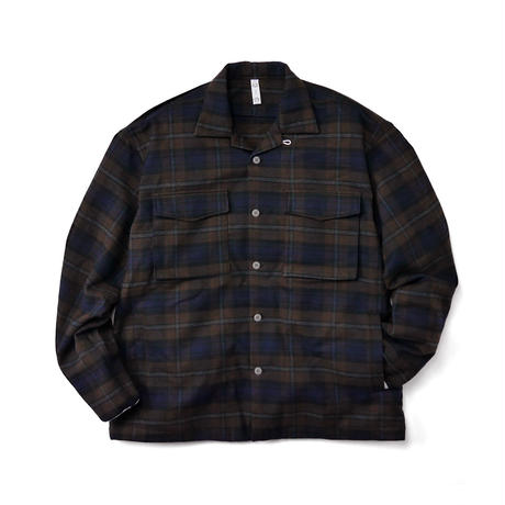 Brown Plaid Shirt Jacket