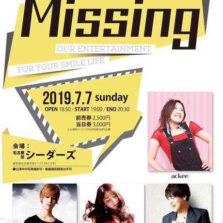 電子チケットMissing vol.125  -ackee /香桃マサアキ /REINA /Eye'Dee-